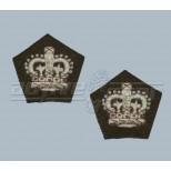 Badge of Rank - Worsted Crowns